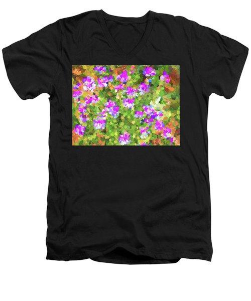 Desert Flowers In Abstract Men's V-Neck T-Shirt