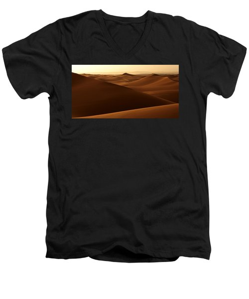Desert Impression Men's V-Neck T-Shirt by Ralph A  Ledergerber-Photography