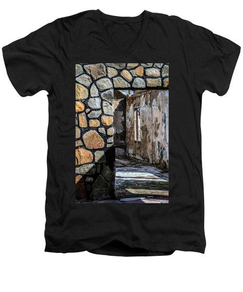 Desert Lodge View 1 Men's V-Neck T-Shirt