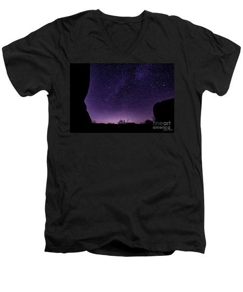Desert Starscape Men's V-Neck T-Shirt