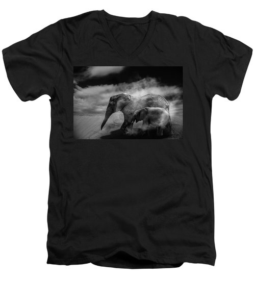 Desert Storm Men's V-Neck T-Shirt