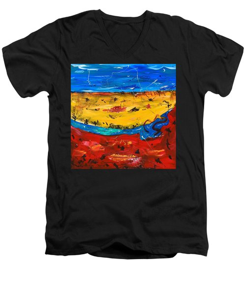 Desert Stream Men's V-Neck T-Shirt