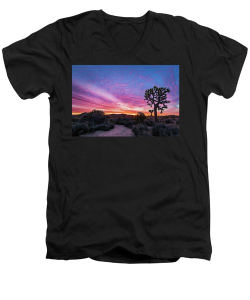 Desert Sunrise At Joshua Tree Men's V-Neck T-Shirt