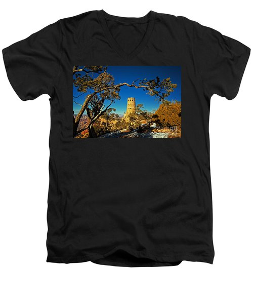 Desert View Watchtower, Grand Canyon National Park, Arizona Men's V-Neck T-Shirt