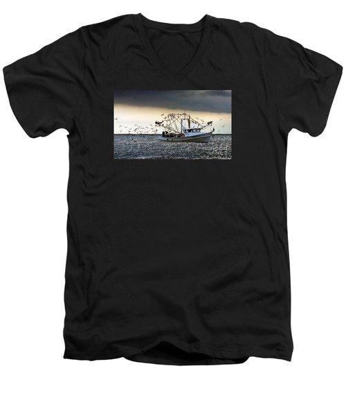 Desperado  Men's V-Neck T-Shirt by Christy Ricafrente