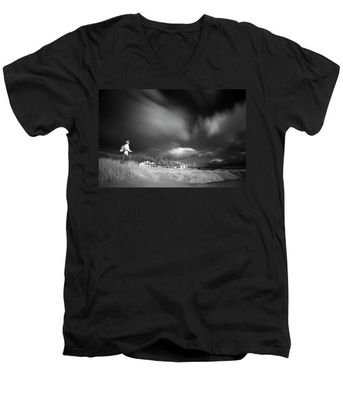 Men's V-Neck T-Shirt featuring the photograph Destination by William Lee