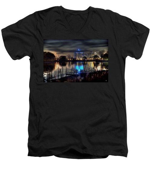 Detroit Reflections Men's V-Neck T-Shirt
