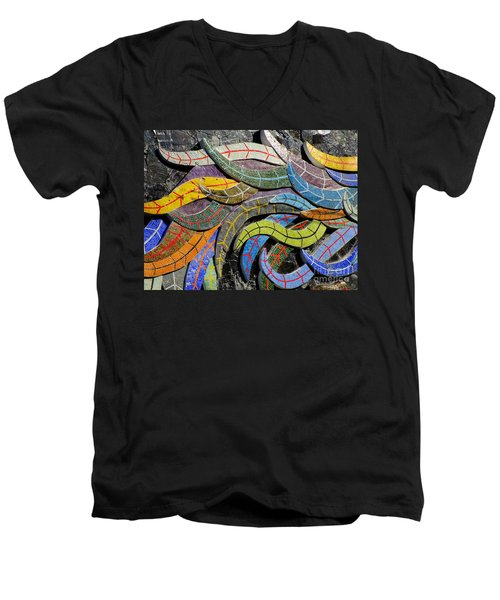 Diego Rivera Mural 6 Men's V-Neck T-Shirt