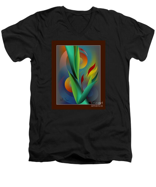 Digital Garden Dreaming Men's V-Neck T-Shirt