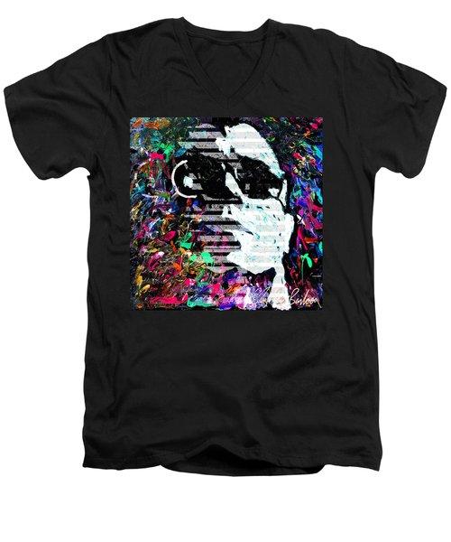 digital Lou Reed Men's V-Neck T-Shirt
