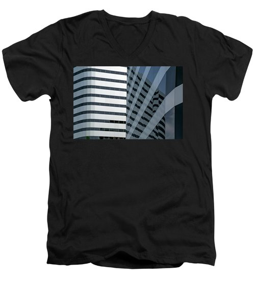Men's V-Neck T-Shirt featuring the photograph Dimensions by Elvira Butler