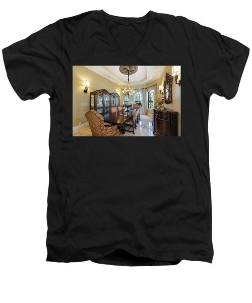 Dining Men's V-Neck T-Shirt