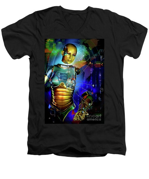 Disconnected Men's V-Neck T-Shirt by Shadowlea Is