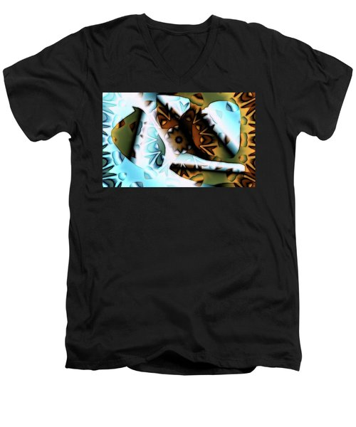 Men's V-Neck T-Shirt featuring the digital art Discontinuous Permafrost by Ron Bissett