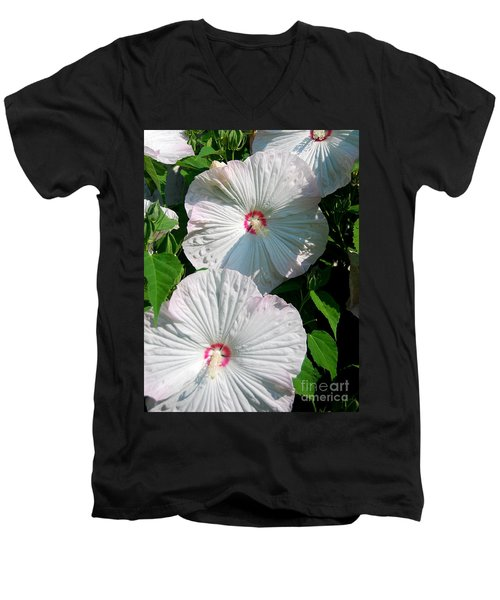 Men's V-Neck T-Shirt featuring the photograph Dish Flower by Brian Jones