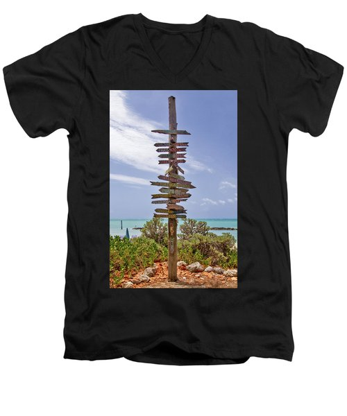 Distance From Key West Men's V-Neck T-Shirt