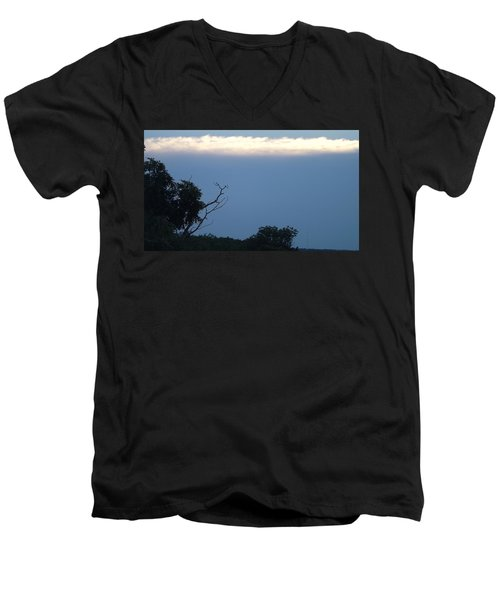 Distant White Clouds Men's V-Neck T-Shirt by Don Koester