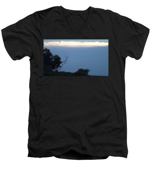 Distant White Clouds Men's V-Neck T-Shirt