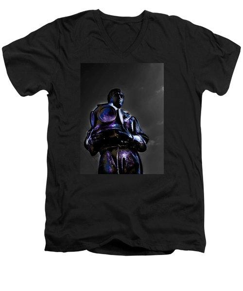 Diver Men's V-Neck T-Shirt by Randy Sylvia