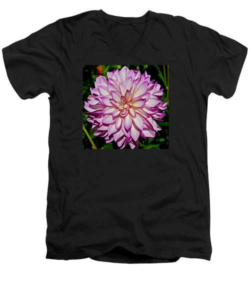 Divine Dahlia Blessings  Men's V-Neck T-Shirt