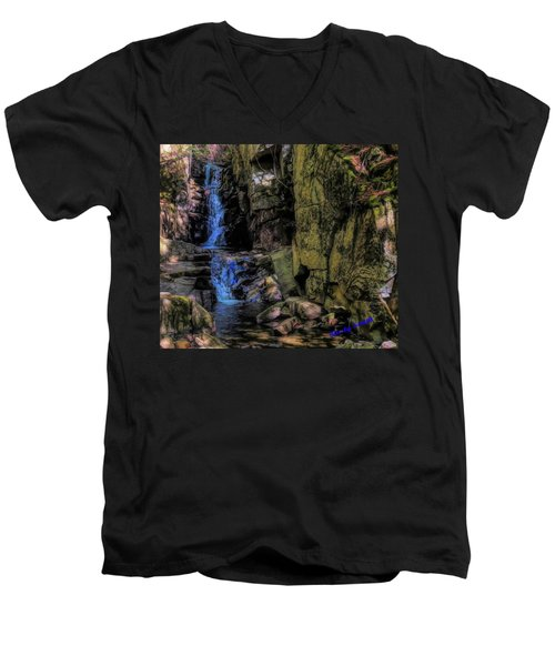 Dixville Notch Flume Brook Men's V-Neck T-Shirt