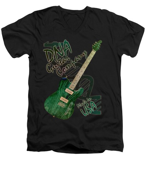 Dna Guitar Shirt 3 Men's V-Neck T-Shirt