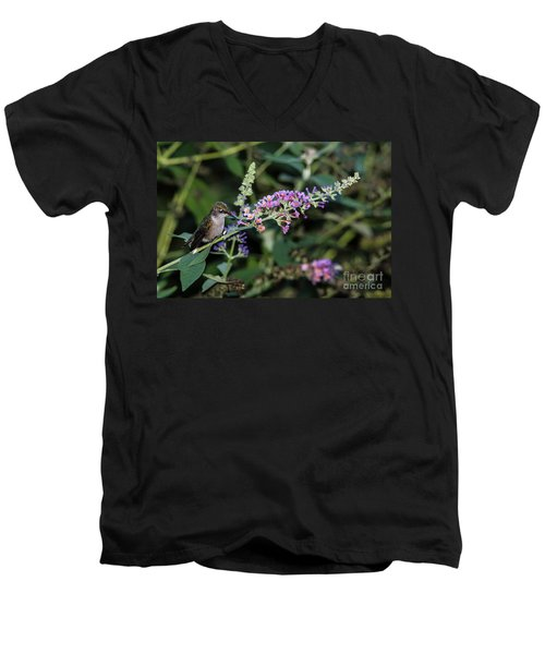 Men's V-Neck T-Shirt featuring the photograph Do You Mind by Judy Wolinsky