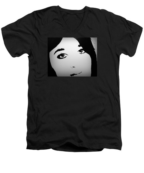 Do You See Me Men's V-Neck T-Shirt by Theresa Marie Johnson