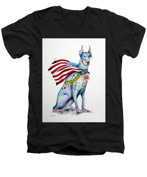 Doberman Napolean Men's V-Neck T-Shirt