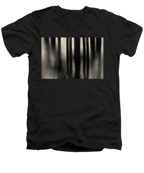 Men's V-Neck T-Shirt featuring the photograph Dock And Reflection I Toned by David Gordon