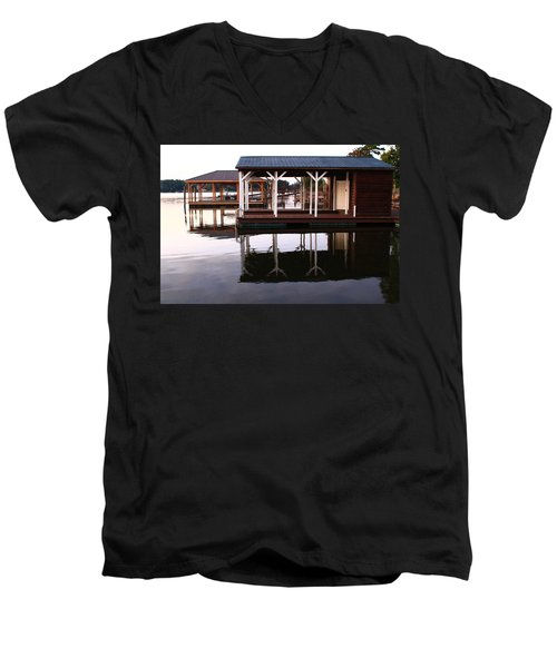 Dock Reflections Men's V-Neck T-Shirt