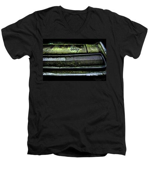Dodge Green Grin Men's V-Neck T-Shirt
