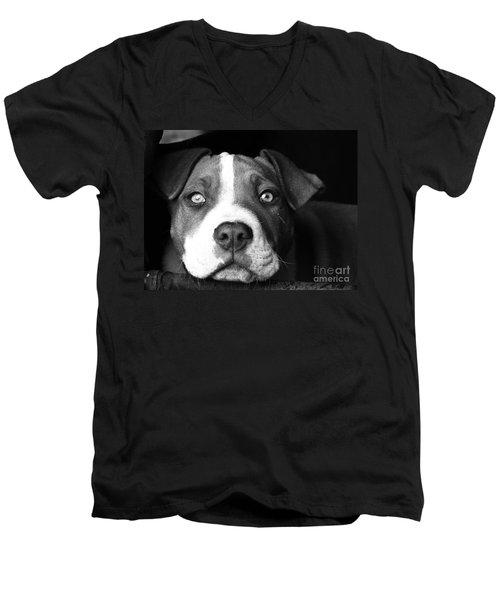 Dog - Monochrome 2 Men's V-Neck T-Shirt