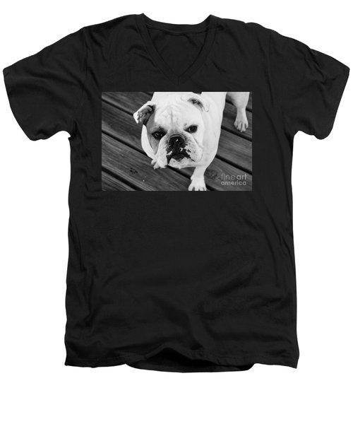 Dog - Monochrome 6 Men's V-Neck T-Shirt