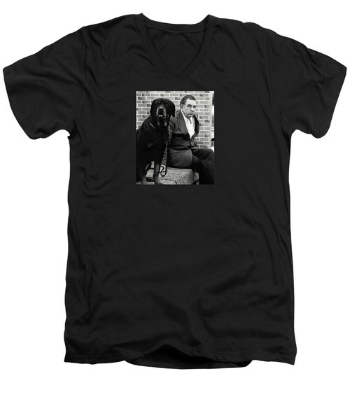 Dog Show 2 Men's V-Neck T-Shirt by David Gilbert