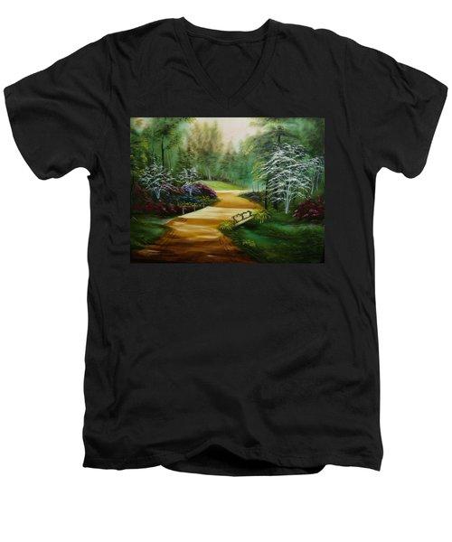 Dogwoods In Springtime Men's V-Neck T-Shirt
