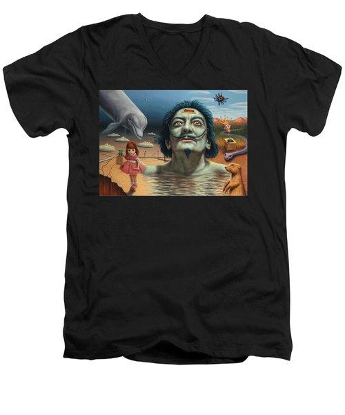Dolly In Dali-land Men's V-Neck T-Shirt by James W Johnson
