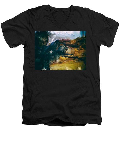Donald Rumsfeld Gwot Vision Men's V-Neck T-Shirt by Brian Reaves