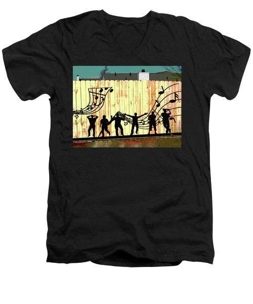 Don't Fence Me In Men's V-Neck T-Shirt by Charles Shoup