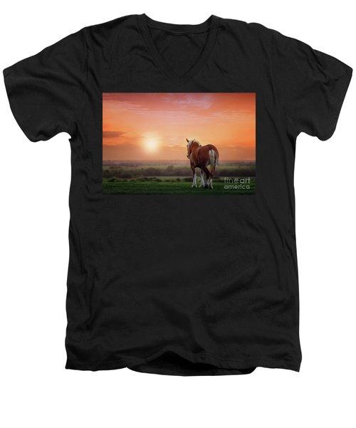 Don't Let The Sun Go Down On Me Men's V-Neck T-Shirt by Tamyra Ayles