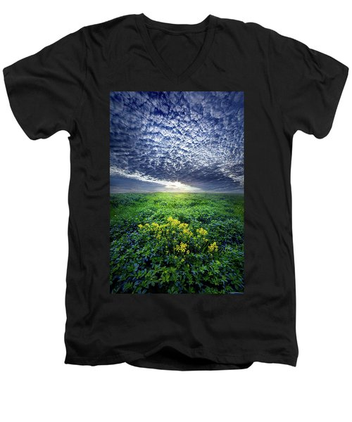 Men's V-Neck T-Shirt featuring the photograph Don't Live Too Fast by Phil Koch