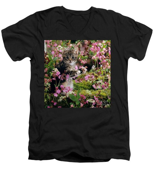 Don't Pick The Flowers Men's V-Neck T-Shirt