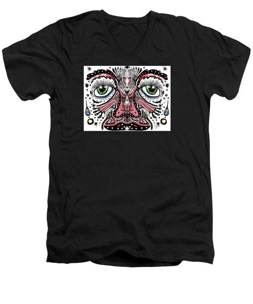 Doodle Face Men's V-Neck T-Shirt