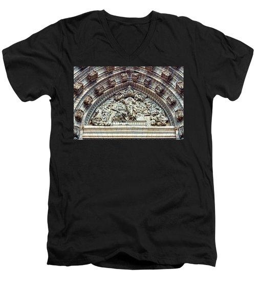 Door Of Assumption - Detail, Seville Cathedral, Spain Men's V-Neck T-Shirt