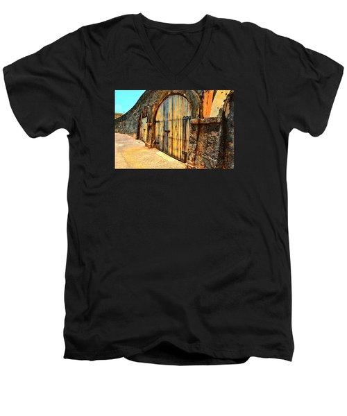 Dos Puertas Vibrantes Men's V-Neck T-Shirt