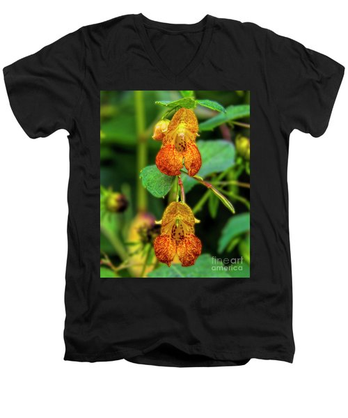 Double Shot Of Jewelweed Men's V-Neck T-Shirt