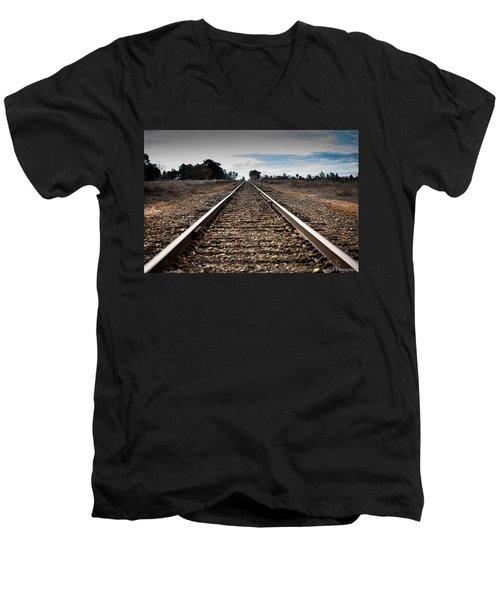 Down The Track Men's V-Neck T-Shirt