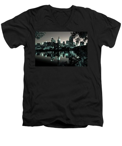 Downtown Minneapolis At Night II Men's V-Neck T-Shirt