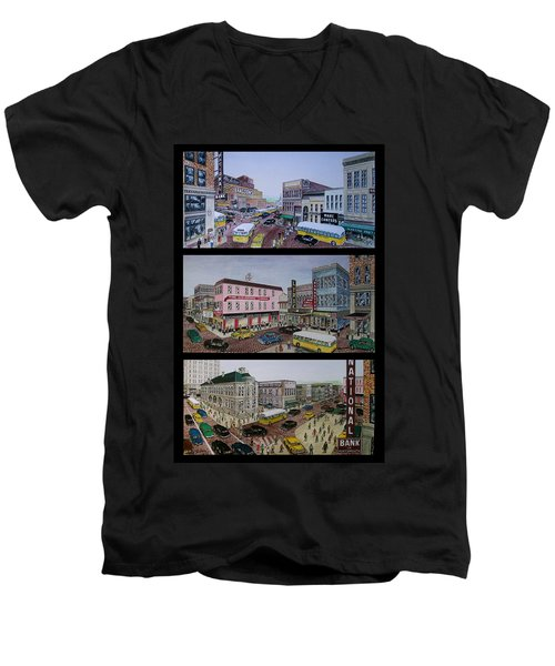 Downtown Portsmouth 1948 Men's V-Neck T-Shirt