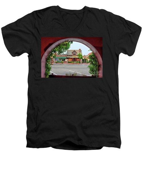 Downtown Solvang Men's V-Neck T-Shirt